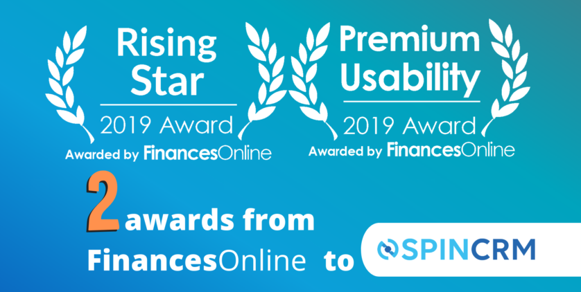 Spin CRM receives two awards on Finances Online